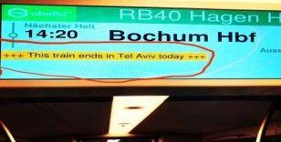 Almanya'daki tren istasyonunda 'Tel Aviv' krizi