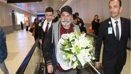 Emmy Ödüllü Haluk Bilginer İstanbul'a geldi