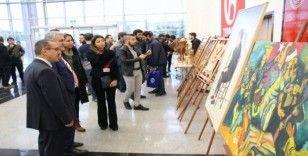 Muhacir Resim ve El Sanatları sergisi açıldı