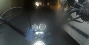 (Özel) İstanbul'da motosikletliler, üzerilerine direksiyonu kıran sürücülere sert tepki gösterdi