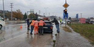 Düzce'de yağmur kazayı beraberinde getirdi