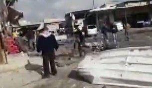 Rus uçakları Maaret el Numan'da pazar yerini vurdu