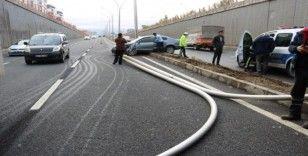 Diyarbakır'da sağanak yağmur kazaya neden oldu: 2 yaralı