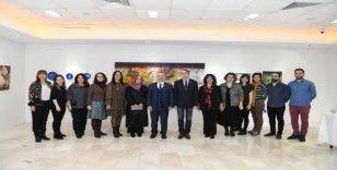 SAÜ'de 'Resim Bölümü Öğretim Elemanları' sergisi açıldı
