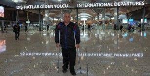 Engelli gezgin yeniden dünya turuna çıktı