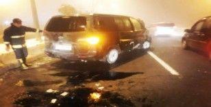 Çaldıran'da trafik kazası, 1 yaralı