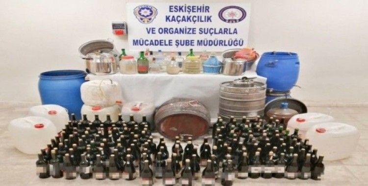 Eskişehir emniyetinden kaçak içki operasyonu