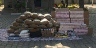 Hatay'da 350 kilo kaçak tütün ele geçirildi