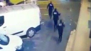 Hırsız-polis kovalamacası güvenlik kamerasında