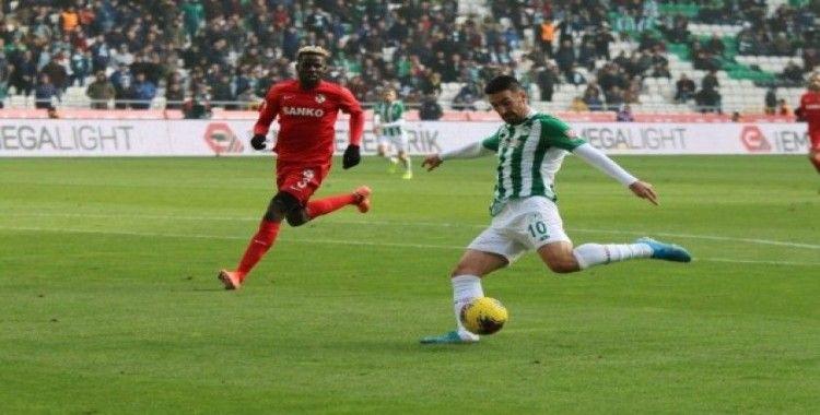 Süper Lig: Konyaspor: 0 - Gaziantep FK: 0 (İlk yarı)