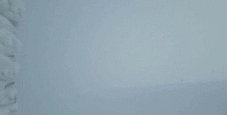 Uludağ'da 2 kişinin kaybolduğu günkü hava durumu kameralara böyle yansıdı