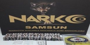 Samsun'da 2 bin 756 adet uyuşturucu hap ele geçti: 2 gözaltı
