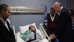 Cumhurbaşkanı Erdoğan, hasta ziyaretlerinde bulundu