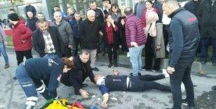 Samsun'da iki kamyonet çarpıştı: 4 yaralı