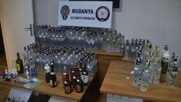 Mudanya polisinden kaçak içki operasyonu
