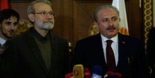 TBMM Başkanı Şentop, İran Meclis Başkanı Laricani ile görüştü