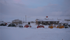 İzciler, Sarıkamış şehitleri için karlı dağları aşarak eksi 10 derecede çadırda sabahladı