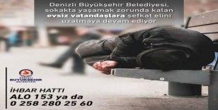Denizli Büyükşehir Belediyesi son 5 yıldır evsizlere kapılarını açmaya devam ediyor