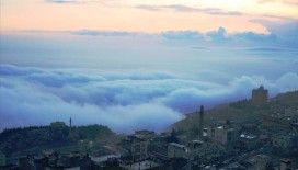 Mardin'de sis ve gün batımı görsel şölen oluşturdu