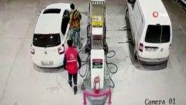 Benzin parasını ödemeden böyle kaçtılar
