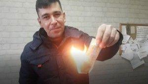 20 bin lira isabet eden piyango biletini yaktı