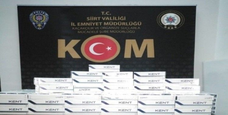 Siirt'te 3 bin 400 paket kaçak sigara ele geçirildi