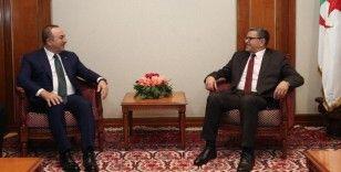 Bakan Çavuşoğlu Cezayir Başbakanı Djerad ile görüştü
