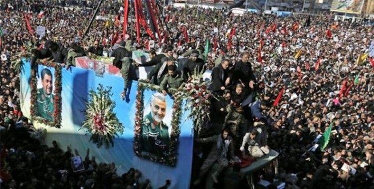 Süleymani'nin cenazesinde yaşanan izdihamda ölü sayısı 40'a yükseldi
