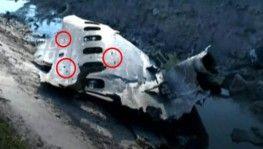 İşte İran'da düşen uçağın patlama anına ait görüntüler