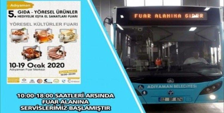 Belediye otobüsleri fuar alanına kadar hizmet verecek