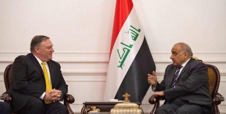 Irak Başbakanı Abdulmehdi, ABD Dışişleri Bakanı Pompeo ile görüştü