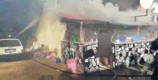 Denizli'de ev yangını