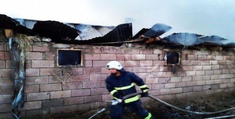 Muradiye'de odunluk yangını