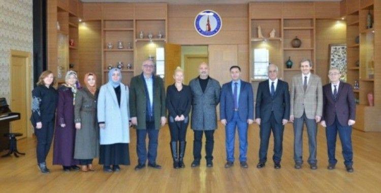 Prof. Dr. Ataç ve Prof. Dr. Şanlıdağ'dan DPÜ'ye ziyaret