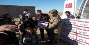 Barış Pınarı Harekatı bölgesine insani yardımlar sürüyor