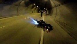 Dolmabahçe Tüneli'nde 'drift' kazası kamerada