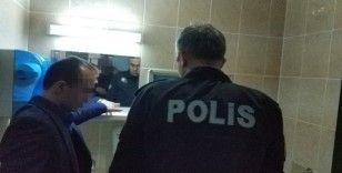 Hastanedeki tuvalette unutulan tabanca kayboldu