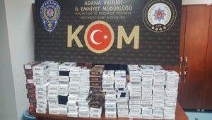 Adana'da 2 bin 940 paket kaçak sigara ele geçirildi