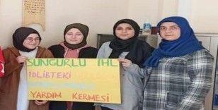 Öğrenciler harçlıklarını İdlip'e gönderdi