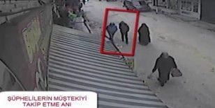 Kapkaç şüphelisi güvenlik kamerasında