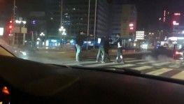 Başkent'te 'yarış' kavgası kamerada