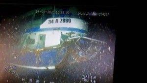 Sarıyer'de batan geminin enkazı görüntülendi