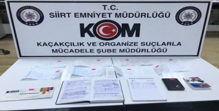 Tefecilerin not defterlerinde 3 milyon 750 bin lira alacak çıktı