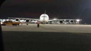 İstanbul Havalimanı'na Airbus 380 indi