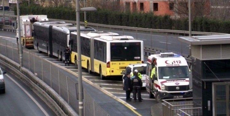 Okmeydanı'nda metrobüs kazası: 1 yaralı