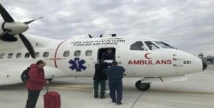 THK ambulans uçağı, KKTC'den Isparta'ya organ nakli için havalandı