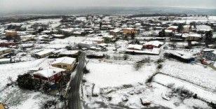 Silivri'yi kaplayan beyaz örtü, drone ile görüntülendi