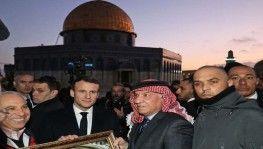 Macron Mescid-i Aksa'yı ziyaret etti