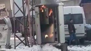 Siirt'te trafo yangını paniğe neden oldu