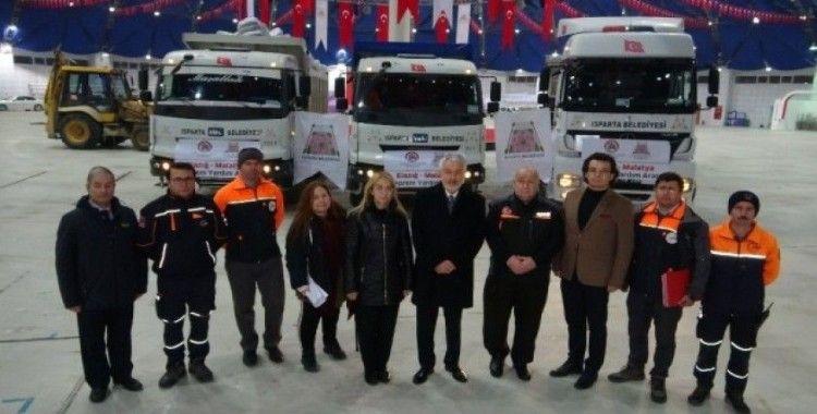 Isparta Belediyesi'nin Elazığ ve Malatya için başlattığı kampanyada duygulandıran yardımlar